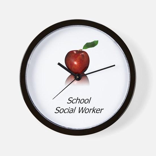 School Social Worker Wall Clock