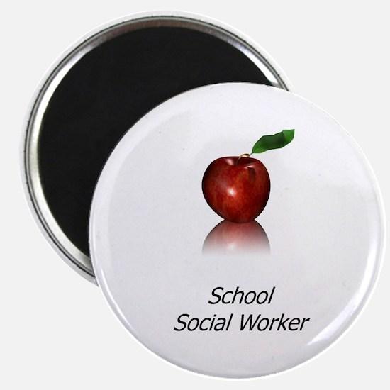 """School Social Worker 2.25"""" Magnet (10 pack)"""
