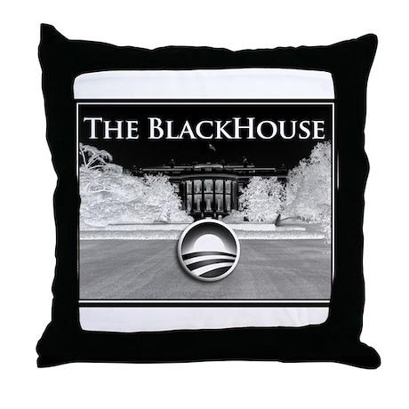 black house Throw Pillow