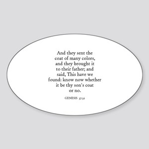 GENESIS 37:32 Oval Sticker