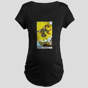 """The Fool"" Maternity Dark T-Shirt"