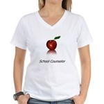 School Counselor Women's V-Neck T-Shirt