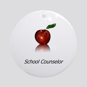 School Counselor Ornament (Round)