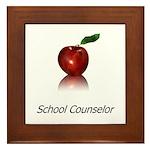 School Counselor Framed Tile