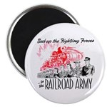 The Railroad Army Magnet