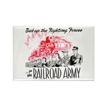 The Railroad Army Rectangle Magnet