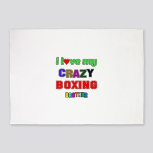 I Love My Crazy Boxing Brother 5'x7'Area Rug