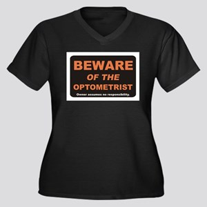 Beware / Optometrist Women's Plus Size V-Neck Dark