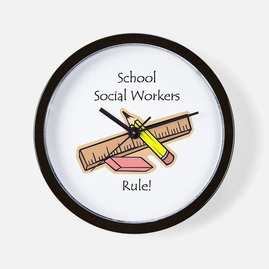 Social Workers Rule Wall Clock