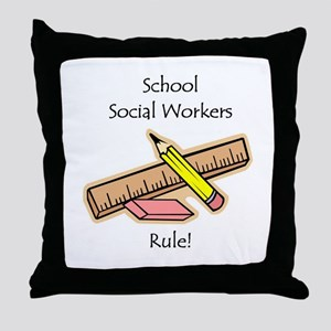 Social Workers Rule Throw Pillow