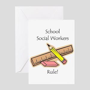 Social Workers Rule Greeting Card