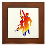 Latin Dancers #1 Framed Tile