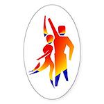 Latin Dancers #1 Oval Sticker