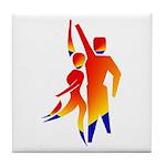 Latin Dancers #1 Tile Coaster