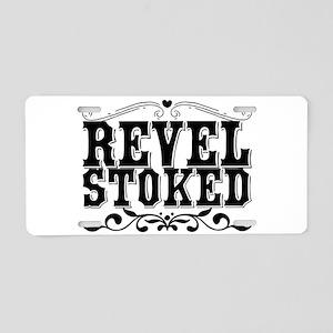Revel Stoked Aluminum License Plate
