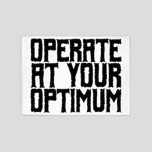 Operate at Your Optimum 5'x7'Area Rug