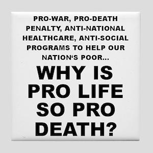 Why so pro death? Tile Coaster