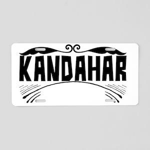 Kandahar Aluminum License Plate