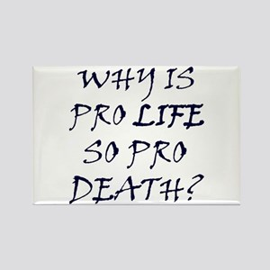 Pro Life is Pro Death Rectangle Magnet