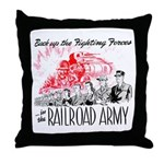 The Railroad Army Throw Pillow