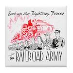 The Railroad Army Tile Coaster