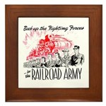 The Railroad Army Framed Tile