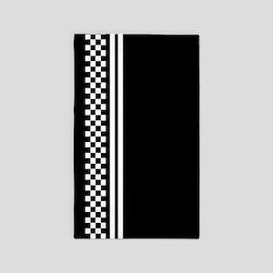 2 tone checkboard stripe Area Rug