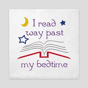 Read Past Bedtime Queen Duvet