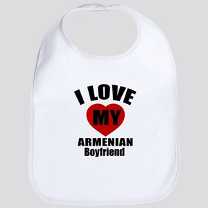 I Love My Armenian Boyfriend Cotton Baby Bib