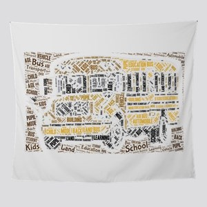 bus school pupil transport vehicle a Wall Tapestry