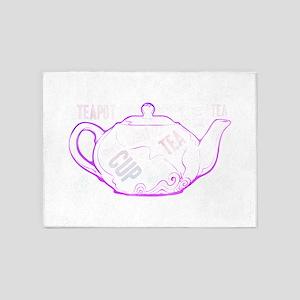cup tea teacup afternoon teapot 5'x7'Area Rug
