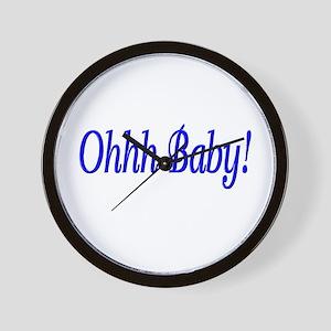 Ohhh Baby! (Blue) Wall Clock