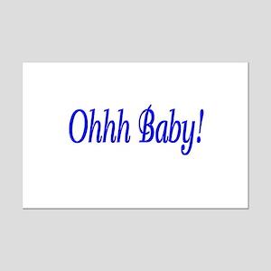 Ohhh Baby! (Blue) Mini Poster Print