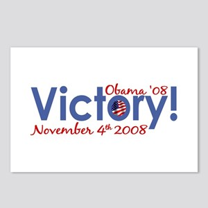 Victory Obama Wins '08 Postcards (Package of 8)