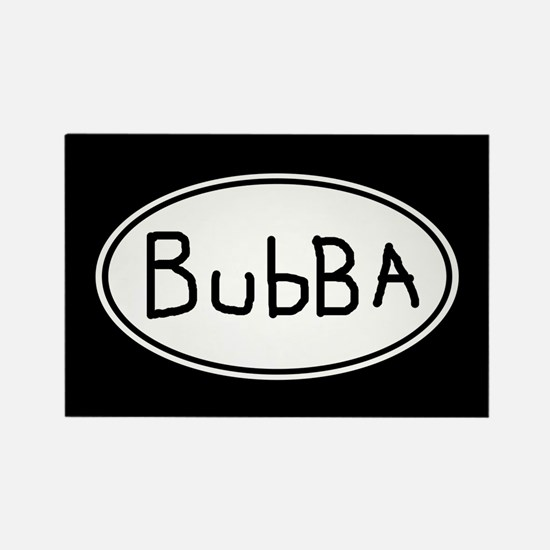Hand Scrawled Bubba Euro Oval Rectangle Magnet