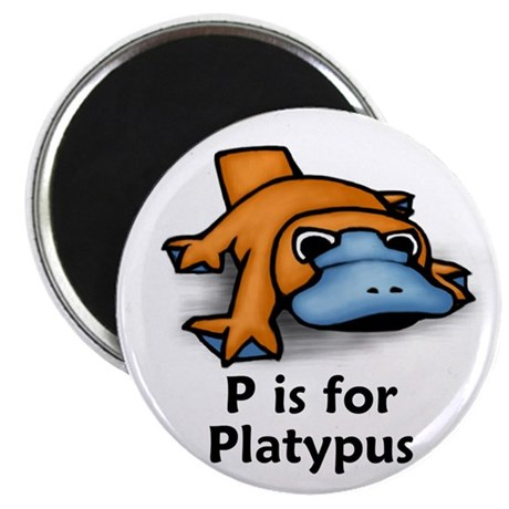 """P is for Platypus 2.25"""" Magnet (10 pack)"""