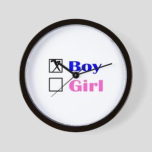 X Boy Wall Clock
