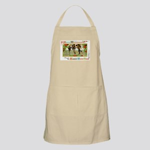 Christmas Ice Skating Scene BBQ Apron