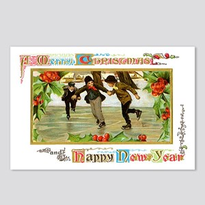 Christmas Ice Skating Scene Postcards (Package of