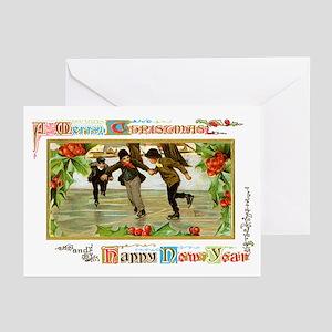 Christmas Ice Skating Scene Greeting Cards (Pk of