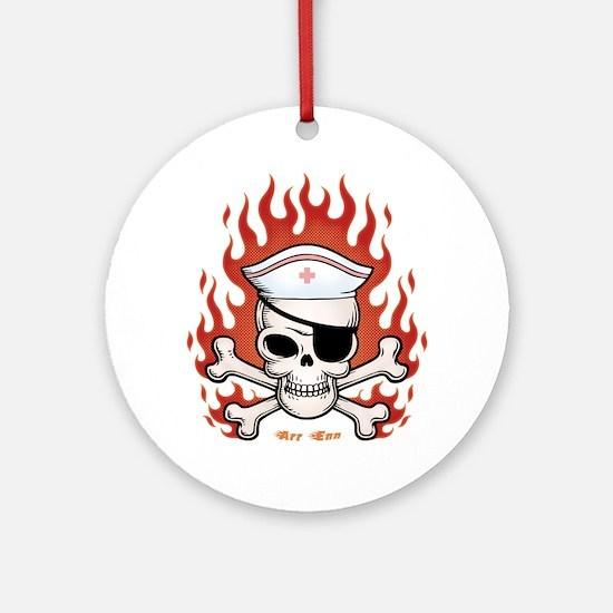 Flaming Arr Enn Ornament (Round)