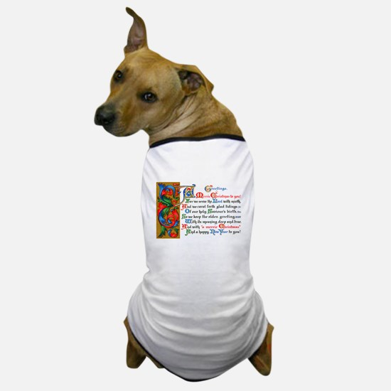 Merry Christmas Happy New Year Dog T-Shirt