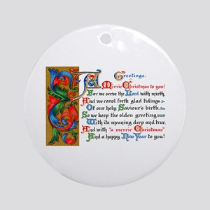 Merry Christmas Happy New Year Ornament (Round)
