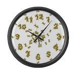 Yellow Jacket Large Wall Clock