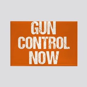Gun Control Now Orange Rectangle Magnet