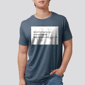 Ask, Seek, Knock Ash Grey T-Shirt