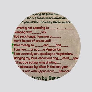 """Dysfunctional Dinner 3.5"""" Button (100 pack)"""