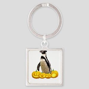 Halloween Penguin Witch Hat Jackolantern Keychains