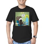 T-Rex at the Dentist Men's Fitted T-Shirt (dark)