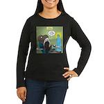 T-Rex at the Dent Women's Long Sleeve Dark T-Shirt